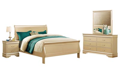 LOUIS PHILIP CHAMPAGNE  TWIN BEDROOM SET