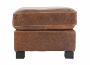 Image for CHARLEY CHOCOLATE LEATHER OTTOMAN