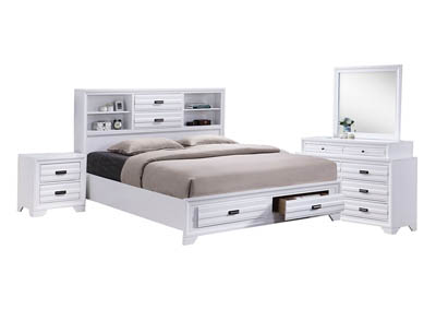 ASLINN WHITE KING BEDROOM SET