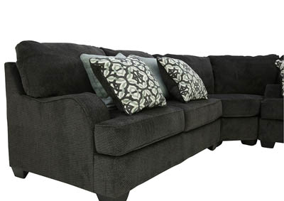 Excellent Ivan Smith Charenton Charcoal 3 Piece Sectional Creativecarmelina Interior Chair Design Creativecarmelinacom