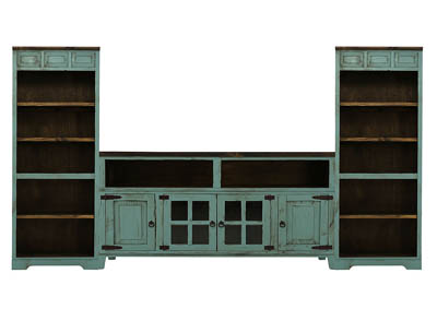 LAWMAN TURQUOISE 3 PIECE WALL UNIT
