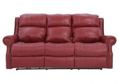 Ivan Smith Vivio Power Reclining Navy Leather Sofa
