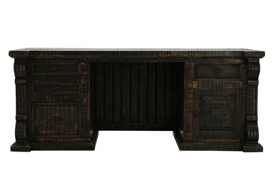 BRONSON ANTIQUE BLACK DESK