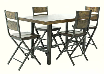 KAVARA 5 PIECE PUB DINING SET