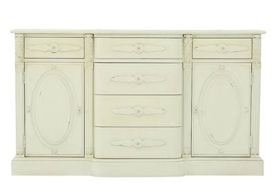FRENCH INSPIRED JO S WHITE CAMEO BUFFET