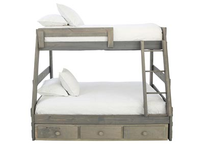 Image for SAWYER DRIFTWOOD TWIN OVER FULL BUNKBED WITH STORAGE AND BUNKIE BOARDS