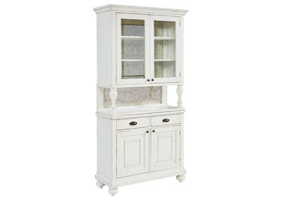 FARMHOUSE JO S WHITE CABINET WITH HUTCH
