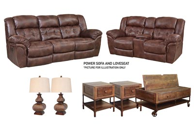 HAYGEN ESPRESSO POWER LIVING ROOM SET