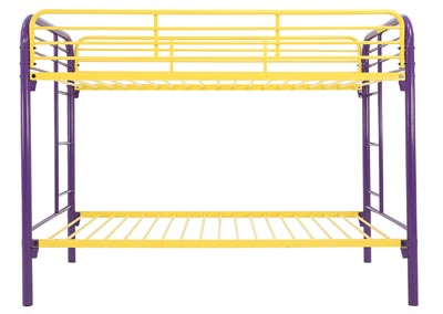 Image for MADISYN PURPLE/GOLD TWIN/TWIN BUNKBED