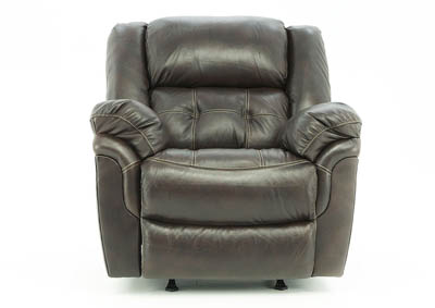 HUDSON CHOCOLATE LEATHER ROCKER RECLINER