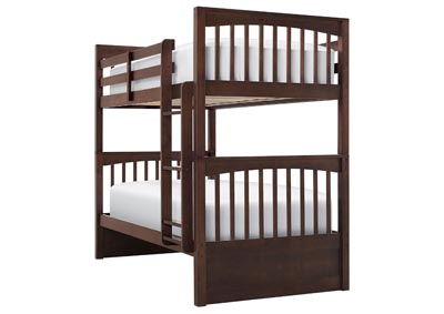 LAUREN CHOCOLATE TWIN OVER TWIN BUNKBED