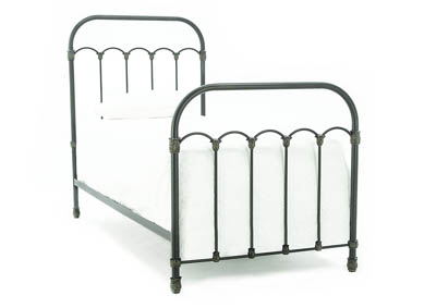 COLONNADE BLACKENED BRONZE TWIN METAL BED