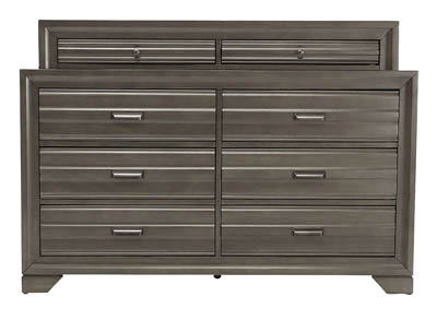 ASLINN ANTIQUE GREY DRESSER