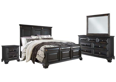 Ivan Smith PASSAGES VINTAGE BLACK KING BEDROOM SET
