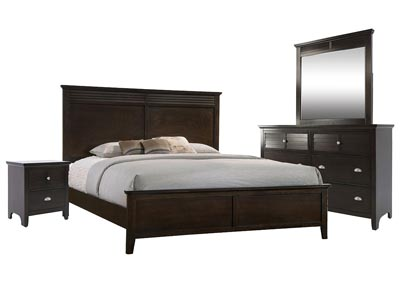 SPENCER BROWN KING PANEL BEDROOM SET
