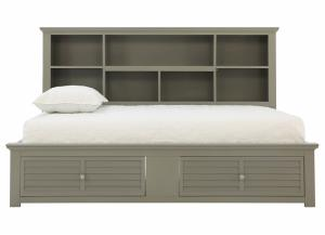 SPENCER GREY FULL DAYBED WITH STORAGE