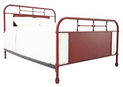 JOLENE VINTAGE RED KING BED