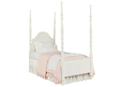 CAMELBACK JO'S WHITE TWIN POSTER BED