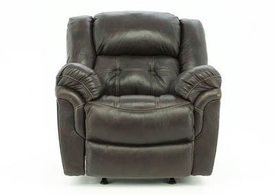 HUDSON CHOCOLATE LEATHER POWER RECLINER