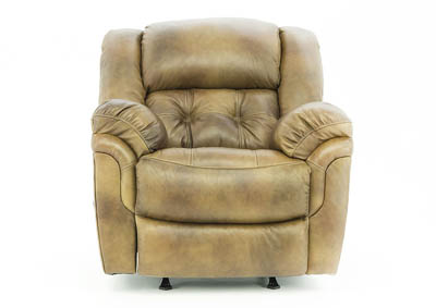 HUDSON SADDLE LEATHER ROCKER RECLINER
