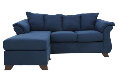 HANNAH COBALT SOFA WITH CHAISE