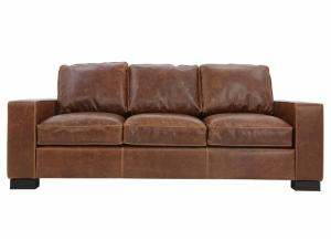 Image for CHARLEY CHOCOLATE LEATHER SOFA