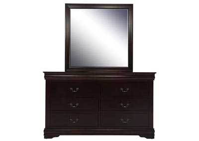 Image for LOUIS PHILIP CHERRY DRESSER AND MIRROR