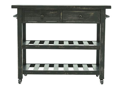 MARLIJO TEXTURED BLACK KITCHEN CART