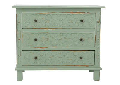HALEY SEAFOAM ACCENT CHEST