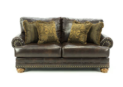 CHALING ANTIQUE BONDED LEATHER LOVESEAT