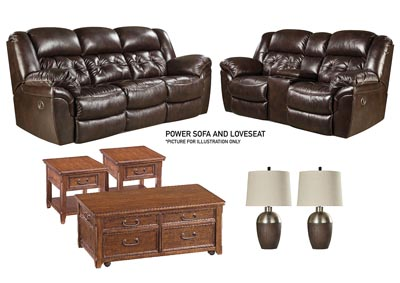 HUDSON CHOCOLATE POWER LIVING ROOM SET