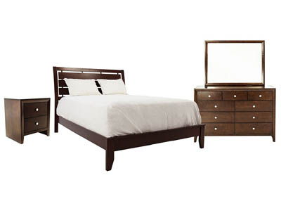 EVAN CHERRY KING BEDROOM SET