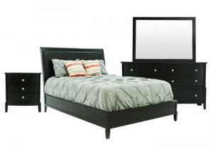OLIVER BLACK CHERRY QUEEN BEDROOM SET