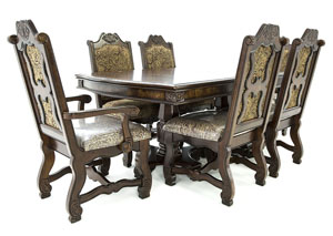 NEO RENAISSANCE 7 PIECE DINING SET
