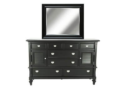 BELMA BLACK DRESSER AND MIRROR