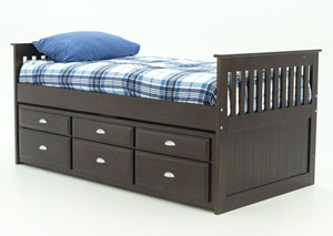 JAYDEN TWIN CAPTAIN'S BED