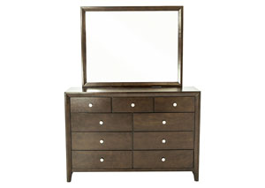 EVAN CHERRY DRESSER AND MIRROR