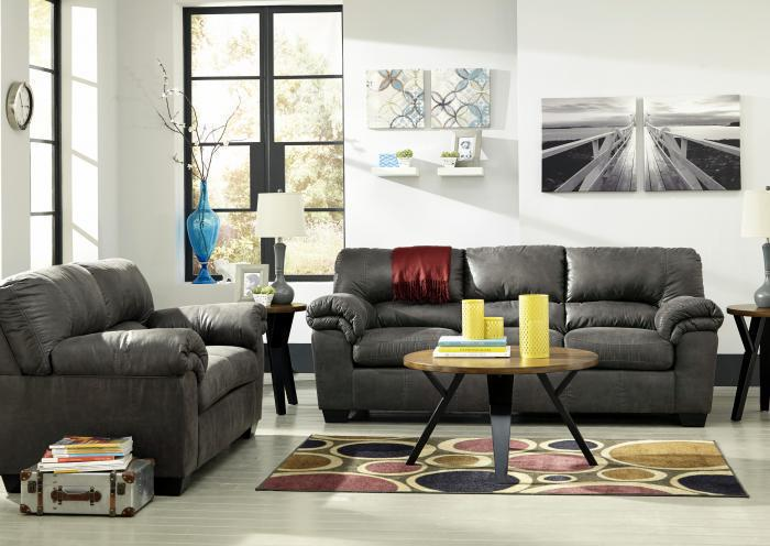 Balden Slate Sofa and Loveseat,Jaron's Showcase