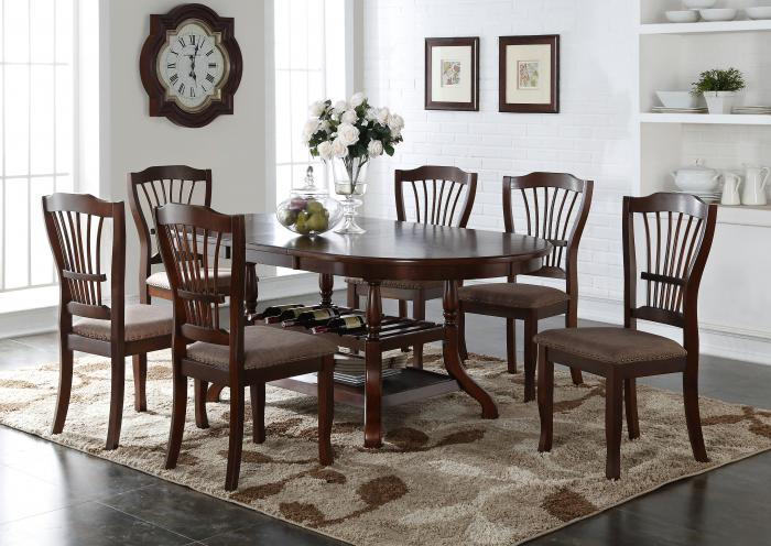 Bixby Table with 6 Chairs,Jaron's Showcase