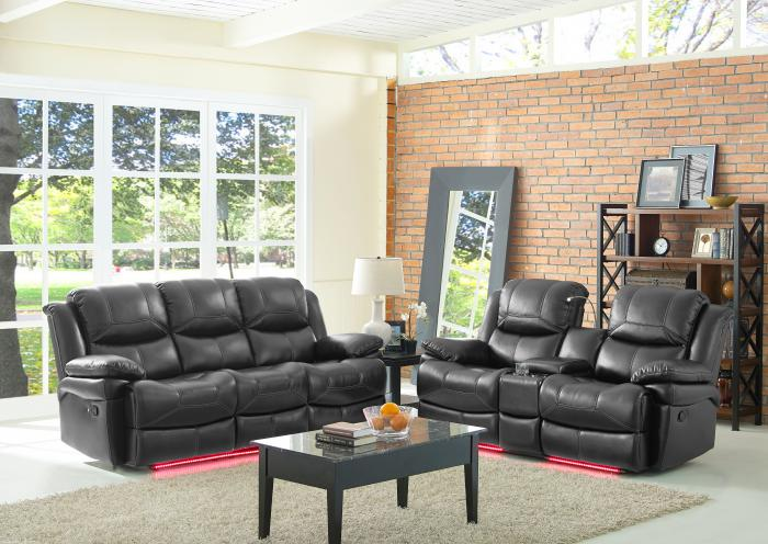 Flynn Power Reclining Sofa and Power Reclining Loveseat,Jaron's Showcase