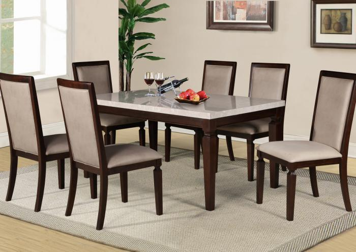Britney Table and 6 Chairs-LIMITED QUANTITY,Jaron's Showcase
