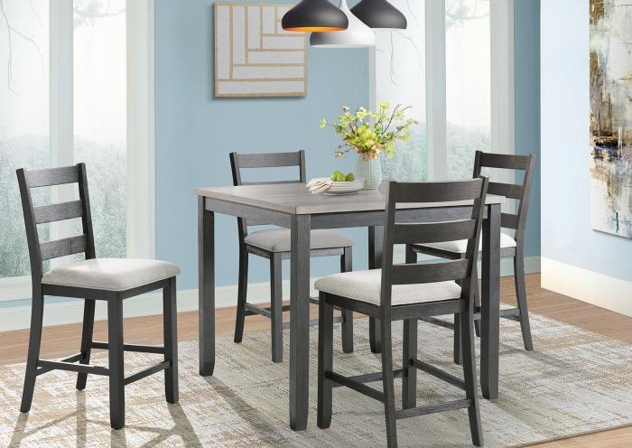 Jarons Martin Counter Height Table And 4 Chairs All In One