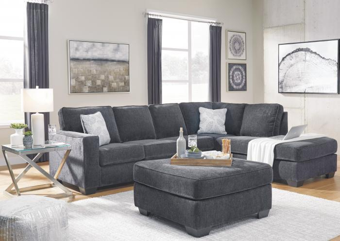 Belmont 2 Piece Slate LAF Sofa Sectional,Jaron's Showcase