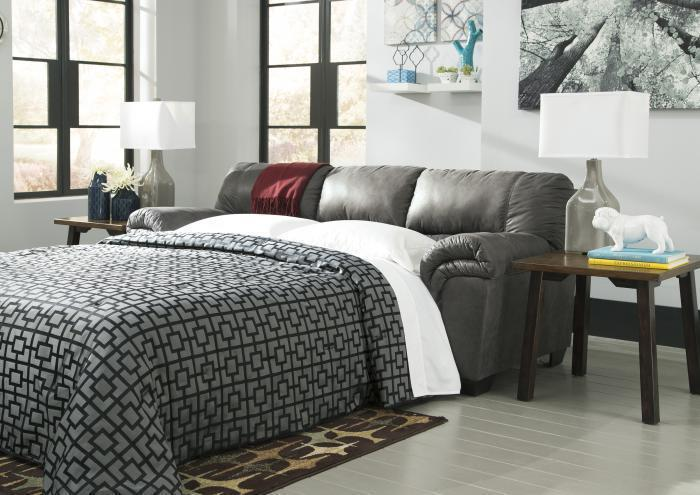 Balden Slate Full Sleeper Sofa,Jaron's Showcase