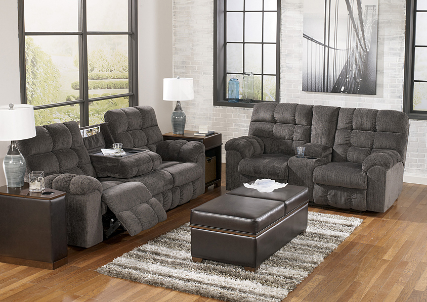 Kingsley Reclining Sofa & Loveseat,Jaron's Showcase