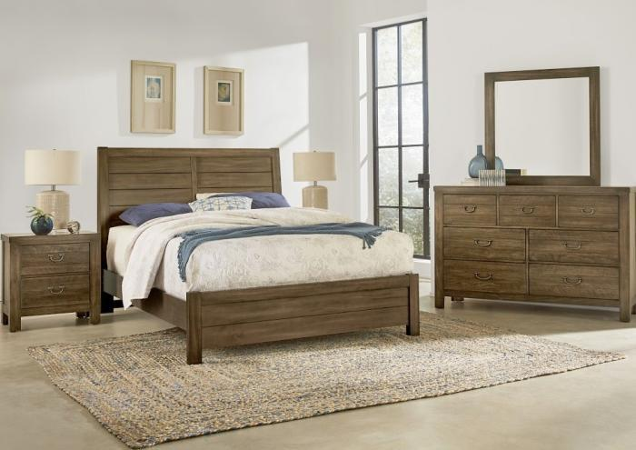 Urban Crossing Queen Bed, Dresser, Mirror, Chest and 1 Nightstand- 2 FLOORSAMPLES LEFT,Jaron's Showcase