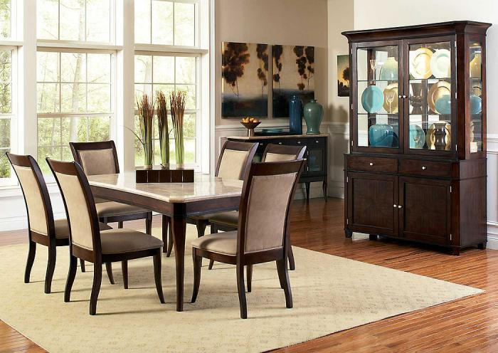 Antoniette Table, 6 Chairs, Buffet and Hutch,Jaron's Showcase