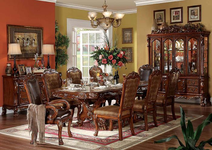 Dresden Table, 4 Side Chairs & 2 Arm Chairs,Jaron's Showcase
