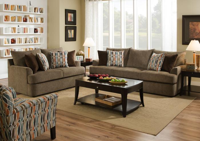 Grandstand Sofa and Loveseat,Jaron's Showcase