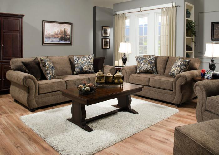 Emory Sofa and Loveseat,Jaron's Showcase